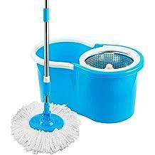 Mop Esfregao Limpeza Pratica c/Cesto Inox Uitech