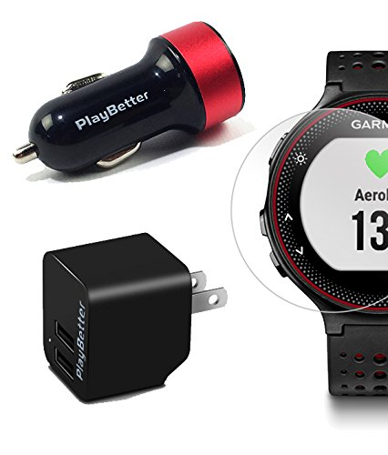 Garmin Forerunner 235 (Marsala) GPS Running Watch Bundle | with HD Screen Protector Film (x4) & PlayBetter USB Car/Wall Adapters | On-Wrist Heart Rate | Elevate Heart Rate Technology | VO2 Max by PlayBetter (Image #5)