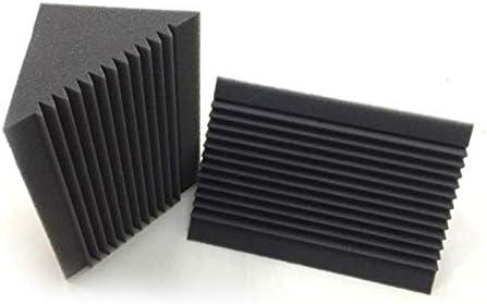 Cobeky 6 Piezas Espuma Ac/ústica Trampa para Bajo de Carb/ón//Negro Absorci/ón de Sonido Pared de Esquina Insonorizada de Estudio 12 X 12 X 24 Cm
