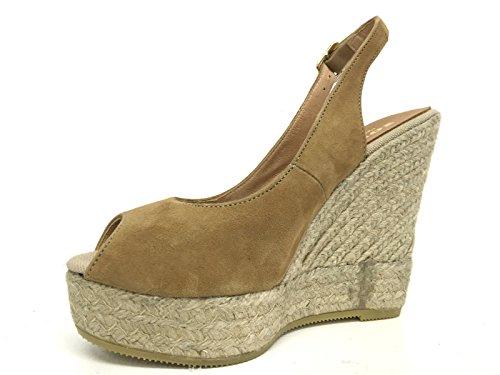 scarpe KANNA soher zeppa nabuck corda spagnola tc 120 pl 30 ds16ka11