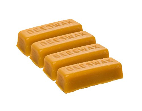 LiveMoor 4 Beeswax blocks - Naturally Fragrant Beeswax - Technical Grade Beeswax