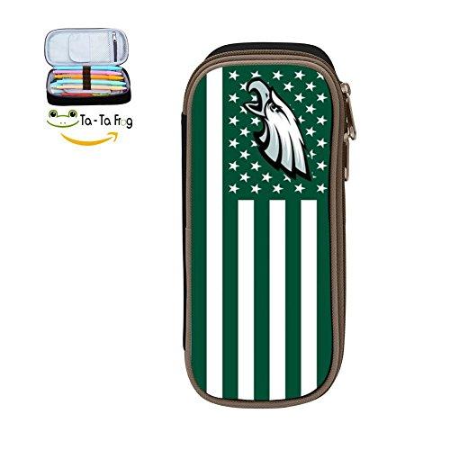 Eagles Pencil - KuenT Philadelphia American Flag Chlidren's Big Pencil Bag Pen Case Pouch Cool Holder Sack Black