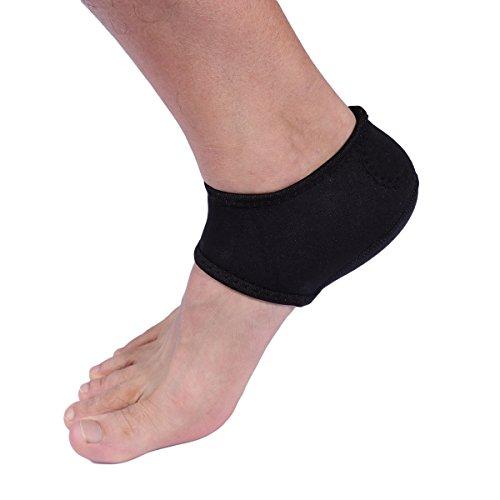 ROSENICE Moisturising Socks Aloe Socks Gel Heel for Spa Open Toe Socks 1 Pair (Black)