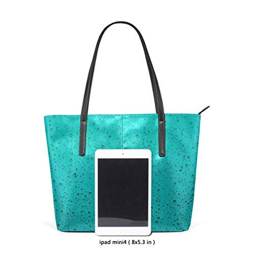COOSUN Wassertropfen PU Leder Schultertasche Handtasche und Handtaschen Tasche für Frauen