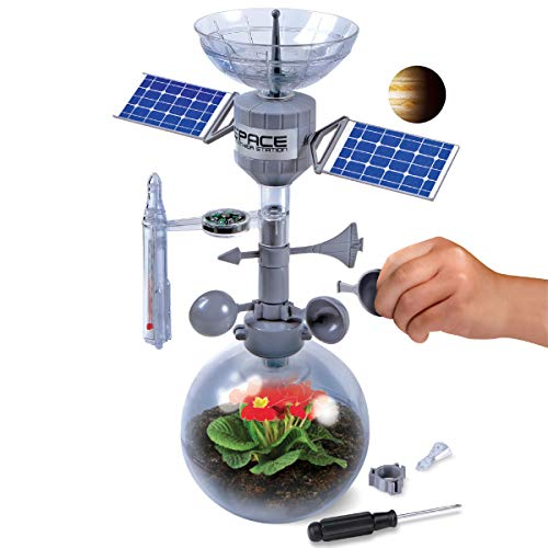 (Discovery Mindblown Weather Terrarium DIY Build and Grow Kit, Create and Study The Water Cycle and Ecosystems, Space Station Model Design with Thermometer, Weather Vane, Compass, Rain Gauge)