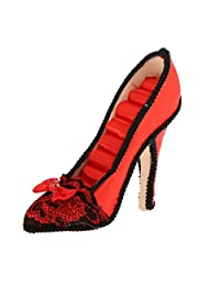 B Blesiya Charming Red High Heel Shoe Ring Holder Storage Wedding Jewelry Showcase