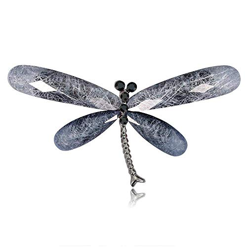 Creative Brooch Pin Brooch European and American style simple alloy diamond dragonfly Brooch Creative Clothing Jewelry pin Badge Pin Lapel Pin (Color : D)