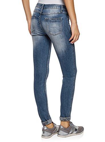 Blu 7519f Vita Ultra A Skinny Jeans Media Donna Oodji 0v8wq
