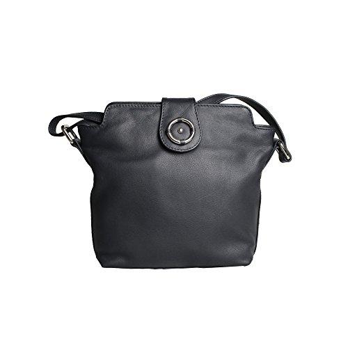 Mujer Penny Cuero Modelo Decorativo Leather De Counties Bolso Anillo Negro Con Eastern Para IxzPawy