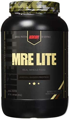Redcon1 MRE Lite, Animal Based Protein, Contains No Whey, No Bloating, Keto Friendly, 2G Sugar, 24G Protein Protein Meal Replacement - Oatmeal Chocolate Chip