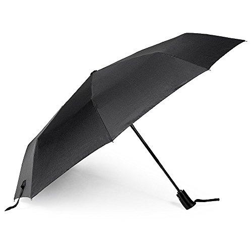 E-Feel Auto Umbrella Outdoor for Travel, Fold Rain Umbrella One Hand Operation Black