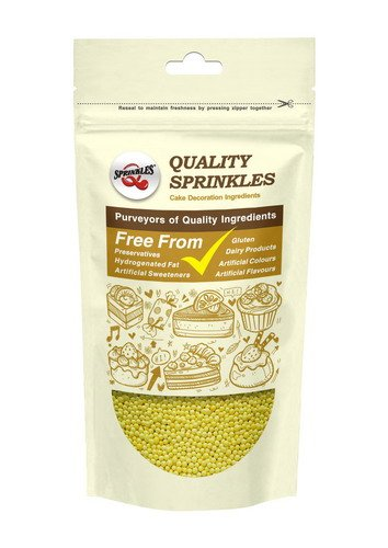 Quality Sprinkles Natural Yellow Gluten GMO Nuts Dairy Soy Free 100's & 1000's Bulk Pack.