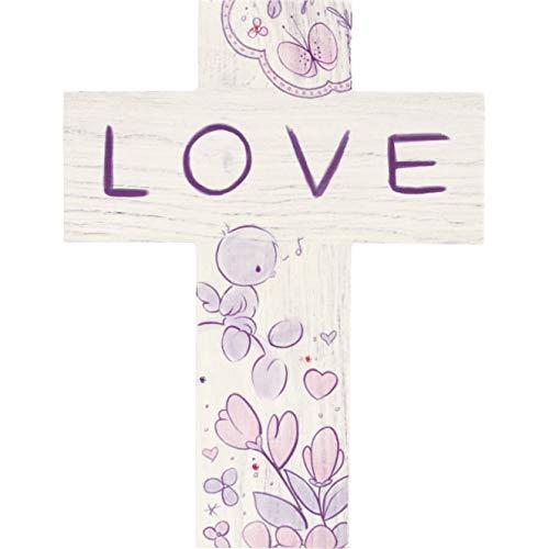 Precious Moments Love Wood Wall Cross 182411