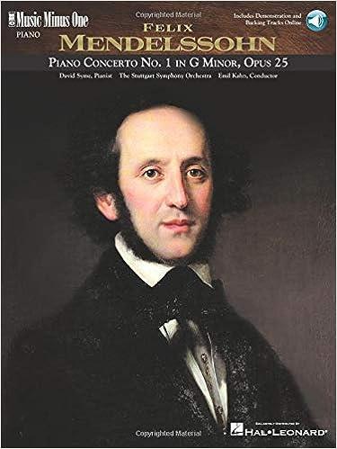 Mendelssohn Concerto No 1 in G Minor Op 25: Music Minus One Piano