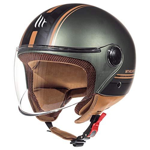 MT HELMETS Unisex 11054718235 Motorradhelm, MATT Brown, M