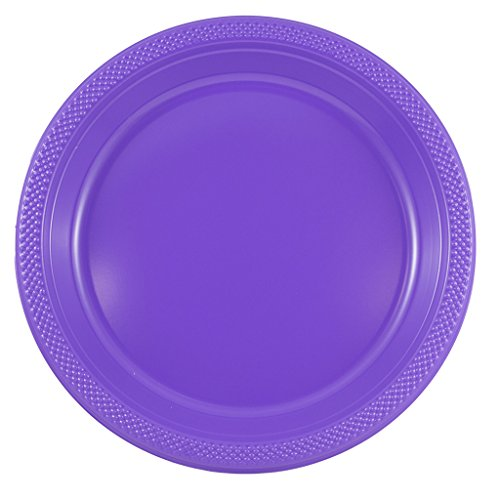 JAM Paper® Round Plastic Party Plates - Large - 10.25