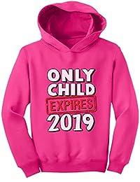 Tstars - Funny Only Child Expires 2019 - Elder Sibling Toddler Hoodie