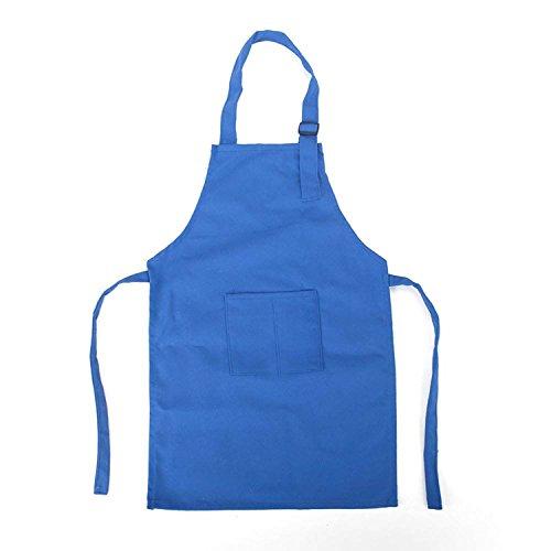 NormCorer Cute Unisex Kids Chef Apron Toddler Artist Bib Smock for Cooking | Baking | Painting | DIY Art & Crafts -1Pcs (blue, m) -