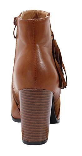 By Bottine Cuir Style Shoes Effet Indien Femme f0qAzwf