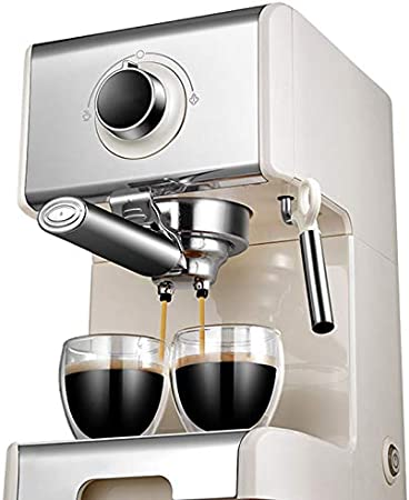Sooiy Cafetera Italiana 20bar Bomba máquina de Espresso Semi-automática Fabricante de café del café Express Inicio Cafetera Batidor de Leche Comercial cafetera Espresso: Amazon.es: Hogar