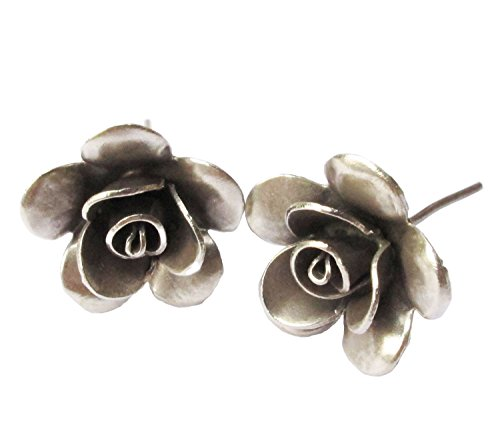 """Thai Zone"""" Karean Silver Earring Unique Hill Tribe(ROSE)"""
