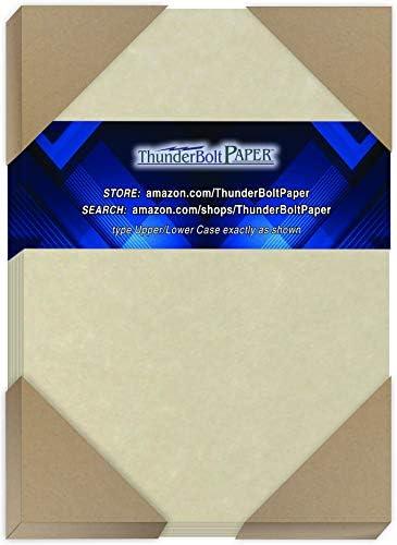 800ナチュラルパーチメント 65ポンド カバーペーパーシート 4.25 X 7インチ クォーターリーガルサイズ カード用紙重量 - 印刷可能な古いパーチメントセムブレンス