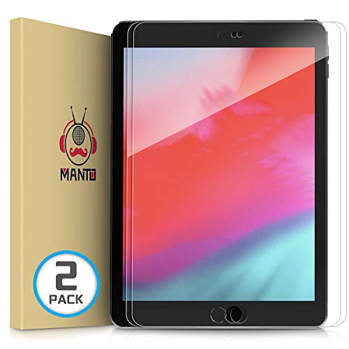 [2-Pack] iPad 9.7 (2018 & 2017) / iPad Pro 9.7 / iPad 5 / iPad 6 / iPad 7 / iPad Air/iPad Air 2 Screen Protector, Manto Tempered Glass Screen Protector Film Compatible with iPad Pro 9.7 inch Models