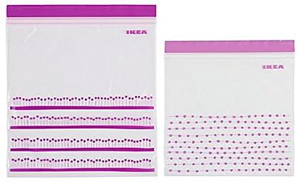 Ikea 100 x Bolsas (ISTAD) - Morado - Ziplock - Bolsas ...