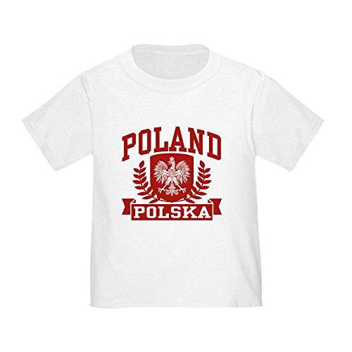 CafePress Poland Polska Cute Toddler T-Shirt, 100% Cotton White