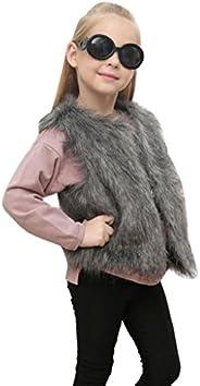 Yoyorule Kids Baby Girl Autumn Winter Faux Fur Vest Cardigan Waistcoat