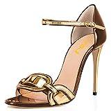 FSJ Women Chic Stiletto High Heel Sandals Open Toe Ankle Strap Buckled Colorful Wedding Dress Pumps Size 10 Multicolour6
