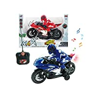 Papa N Me Store RC Electric Radio Remote Controlled Motorcycle Toy Lights & Music Kids Remote Control Motorcycle