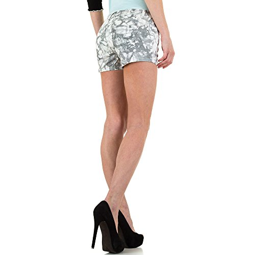 Hot Pants Shorts Für Damen , Grau In Gr. 42 bei Ital-Design