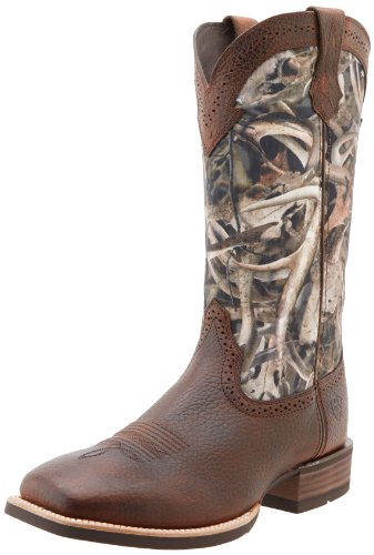 Ariat Men's Quickdraw Western Cowboy Boot, Brown/Oiled Rowdy