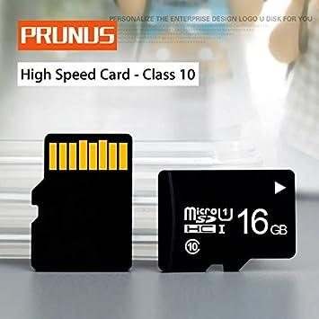 prunus Tarjeta Micro SD Tarjeta TF (16G) con Lector de ...