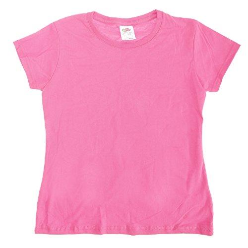 Fruit Of The Loom Big Girls Sofspun Short Sleeve T-Shirt (12-13) (Light Pink) (Big Kids Light Pink Apparel)