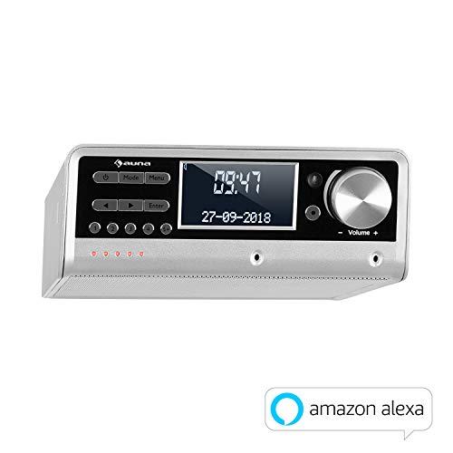 auna Intelligence DAB + / FM ingebouwde keukenradio met Alexa & Spotify (app-bediening, multiroom voor 6 apparaten…