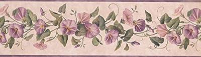 """Wallpaper Border Lavender Floral 7"""" x 15' DW30083B"""