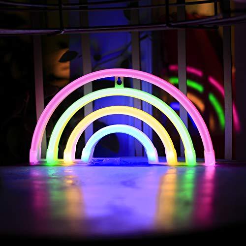 (Neon Signs 4 Colors Rainbow Neon Light Wall Decor for Children Room or Dorm (Rainbow))