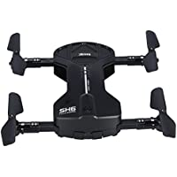 Wifi RC Quadcopter Drone 2.4GHz Mini Drone with Foldable Arms(Black without Camera)