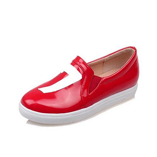 di VogueZone009 Rosso Donna Ballet Colore Maiale Assortito Pelle Punta Tonda Flats rrHxBFqEw