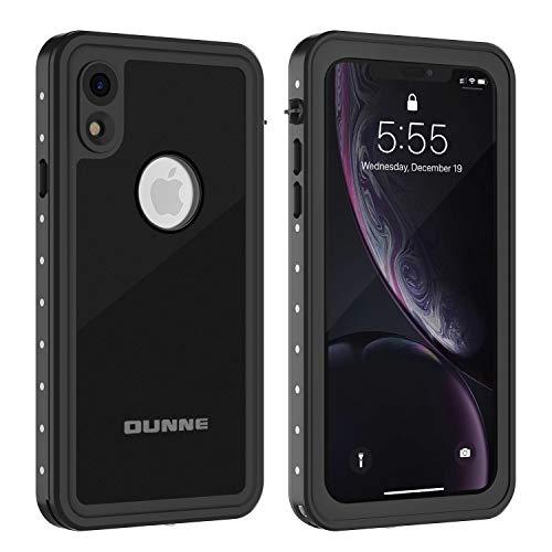 OUNNE iPhone XR Waterproof Case, Full Sealed Underwater Cover IP68 Certified Dustproof Snowproof Shockproof Waterproof Phone Case for iPhone XR (Black) (Best Iphone Cases For Guys)