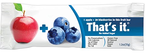 That's it Fruit Bar, Apple and Blueberry 1.2 Ounce,12 Count