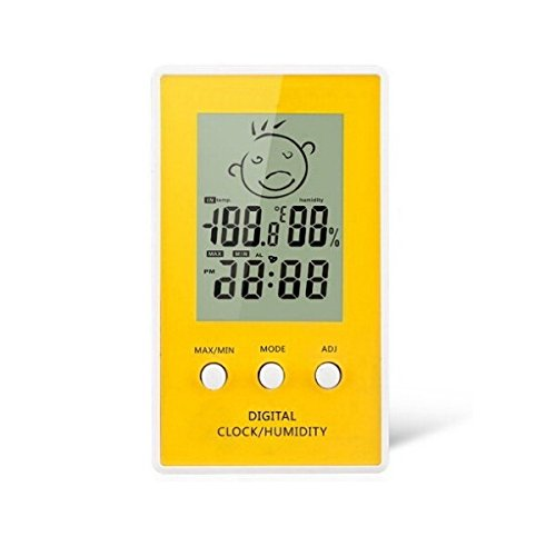 Goliton Thermometer temperature and humidity table electronic clock alarm clock high and low temperature memory recording time INS.W02.HLX.010.XXY