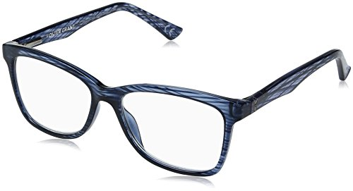 Foster Grant Women's Penelope 1017870-175.COM Square Reading Glasses, Crystal Navy Blue, - Eyewear 2017 Trends Womens