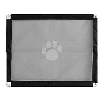 Red de Cerca de Aislamiento de Mascotas Negro para Perros Peque PQZATX Puerta de Perro Interior para Puerta Guardia de Seguridad Plegable para Puerta para Mascotas Alto Extra Ancho