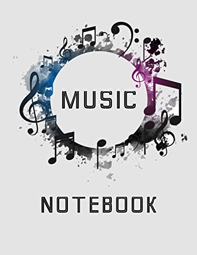 Music Notebook: Lined/Ruled Paper And Staff, Lyric Diary and Manuscript Paper for Songwriters and Musicians