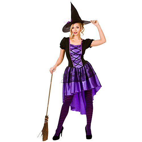 Witches Of Eastwick Halloween Costumes (Adults Ladies Glamorous Witch Costume for Halloween oz Eastwick Cosplay US Size)