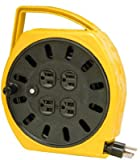 wind up extension cord - Alert Stamping 6000-20G 20-Foot Extension Cord Reel with 4 Outlets