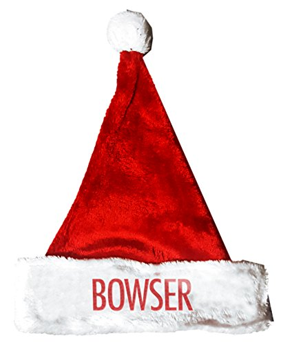 Bowser Costume Accessories (BOWSER Santa Christmas Holiday Hat Costume for Adults and Kids u6)